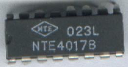 Scanned Image of an actual 4017B Decade Counter Inetgrated Circuit